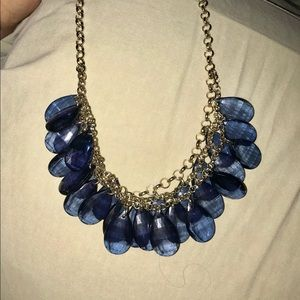 Blue gold necklace 16 inch